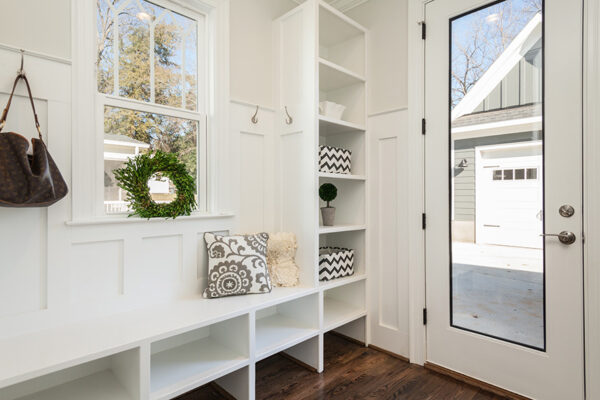 entryway with built-ins