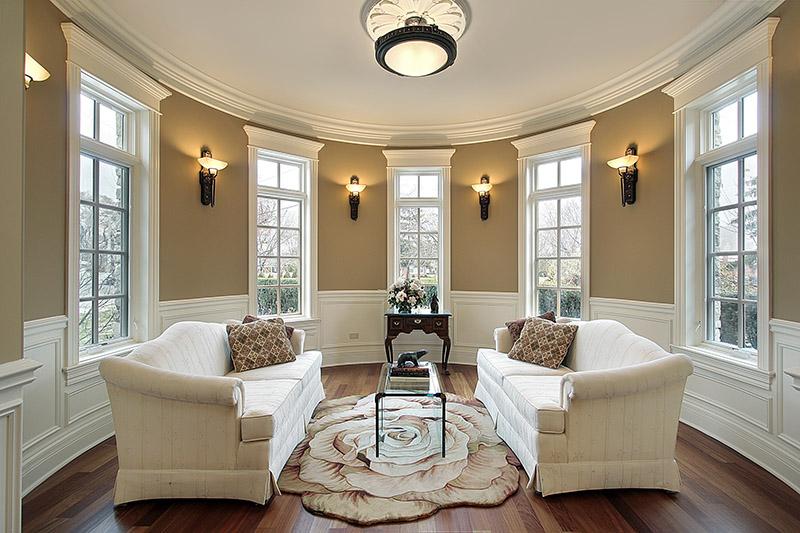 Lighting Scones in living room