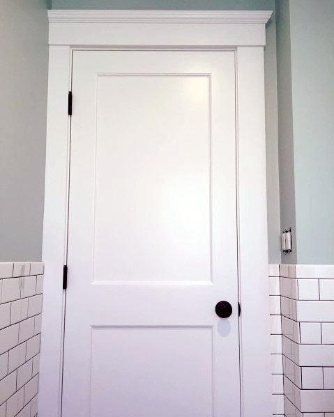 simple white door