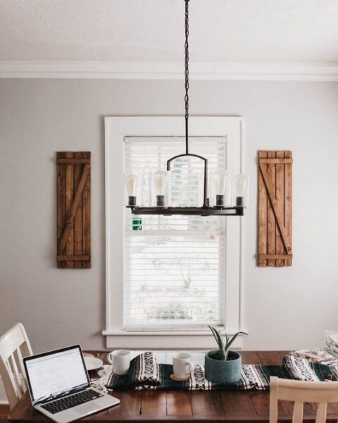 Light Fixture Over Table